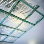 Picture of insulation in conservatory roof