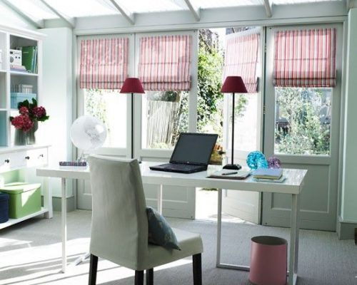 Office in a conservatory